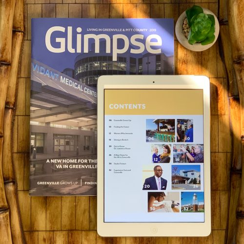 Greenville-Pitt County Chamber of Commerce's 2019 Quality of Life magazine, Glimpse