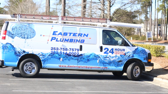 eastern plumbing van graphics
