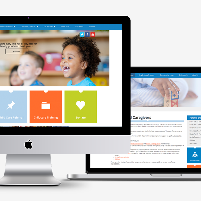 Martin-Pitt Partnership for Children website design
