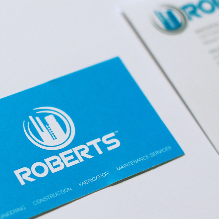 The Roberts Company business card