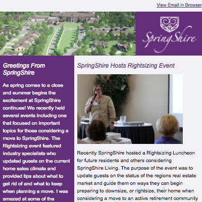 Top of a SpringShire E-Blast