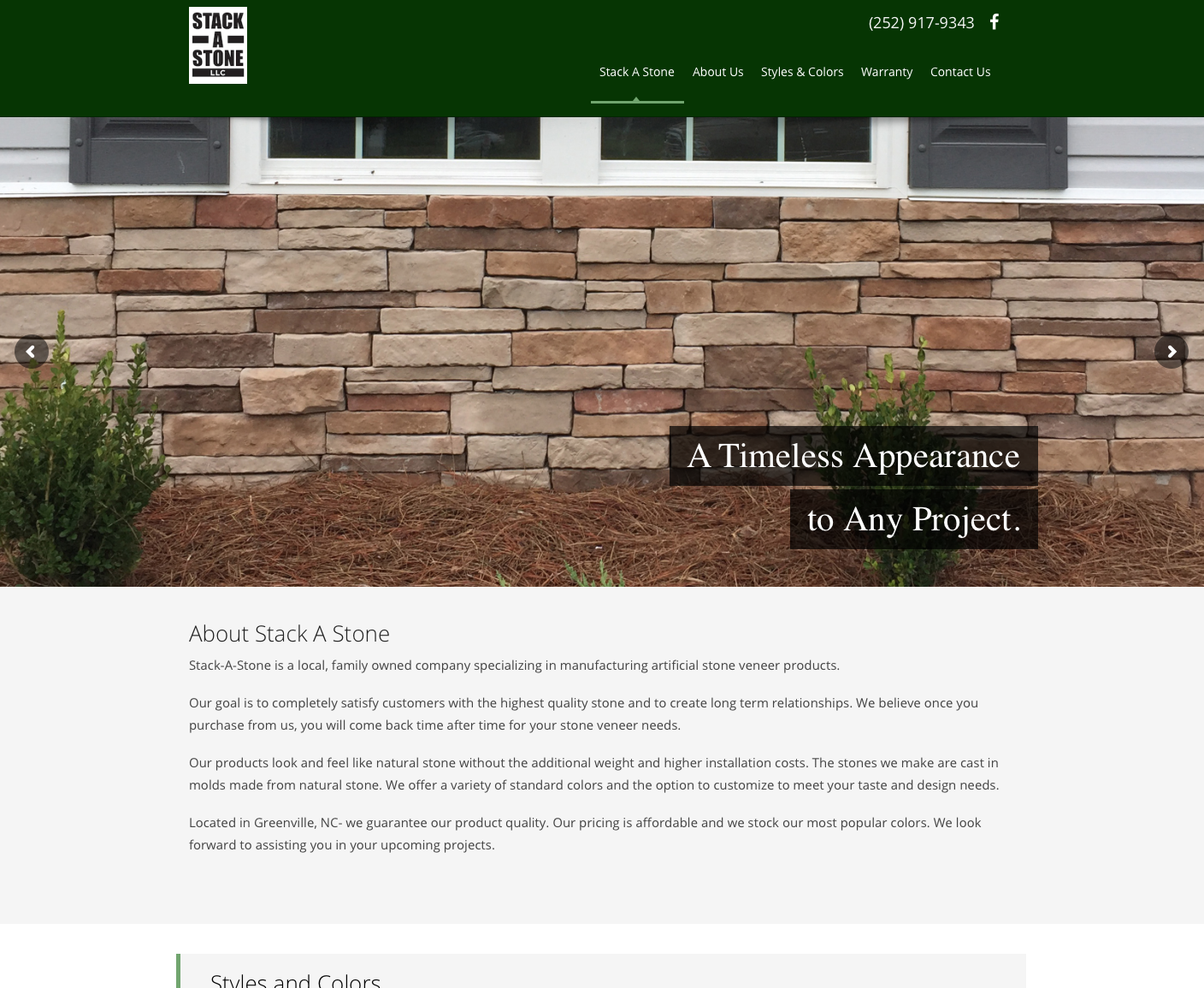 Header of the Stack-a-stone website