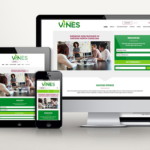 Vines website across multiple screens