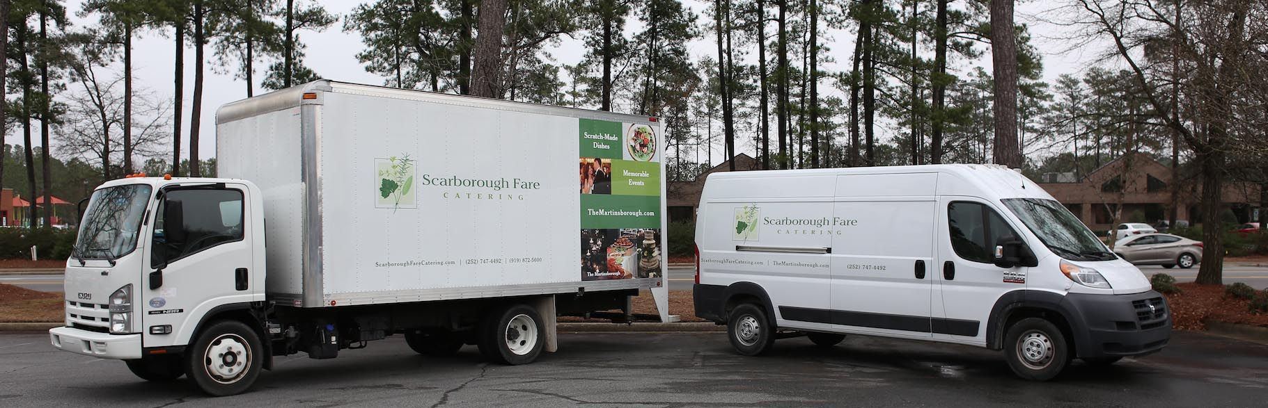 Side view of Scarborough Fare Catering van graphics