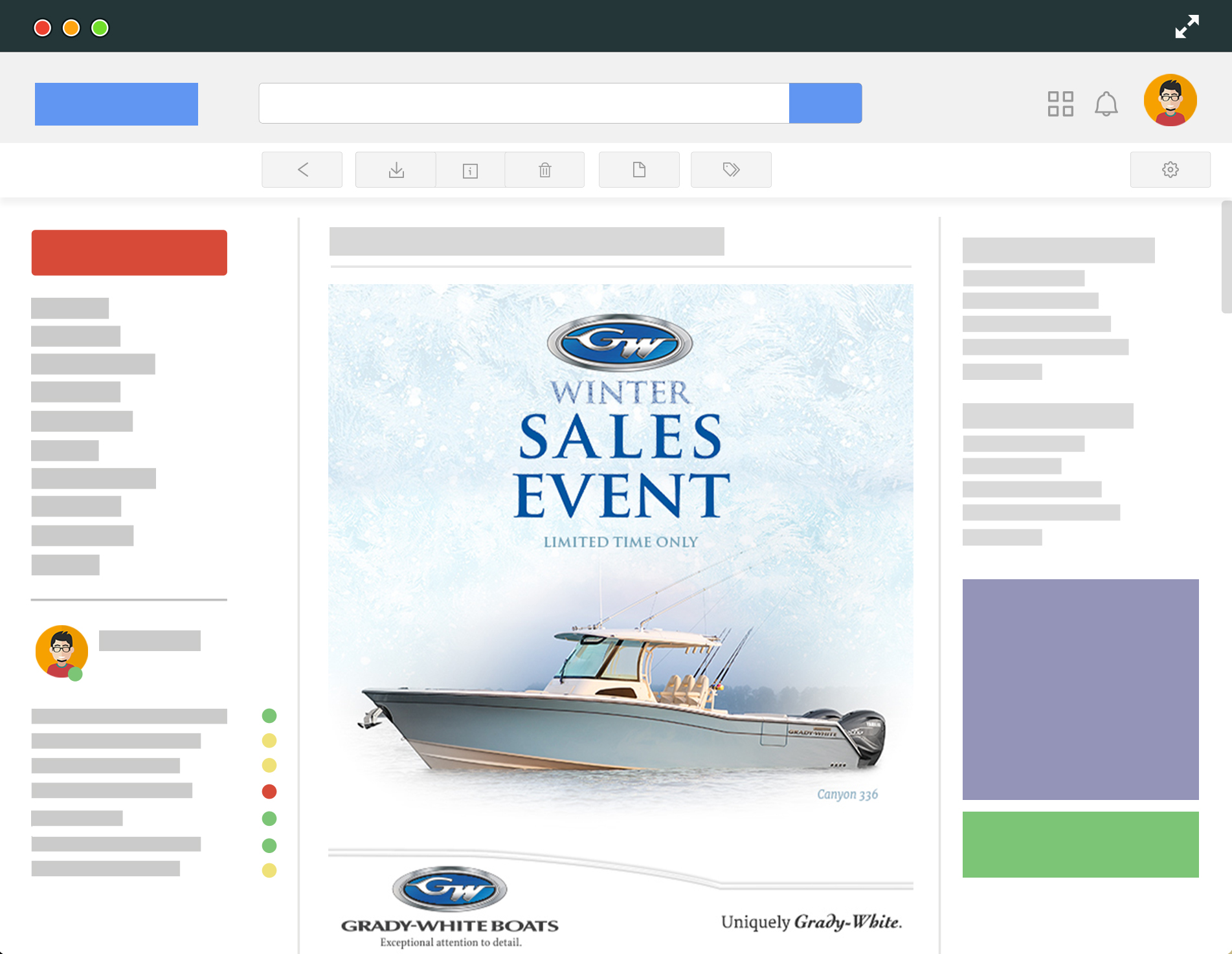 Grady-White Boats Winter Sales Event E-Newsletter Template